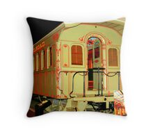 """Virginia and Truckee Railroad Car #16"" Throw Pillow"