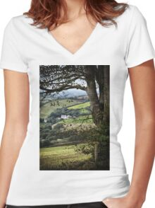 Beneath The Bough Women's Fitted V-Neck T-Shirt