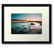 sunset colours Framed Print