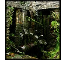 The watermill in the other side of  the old shelter Photographic Print
