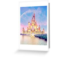 disney castle Greeting Card