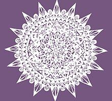 White Star Mandala Design by Hazel Partridge