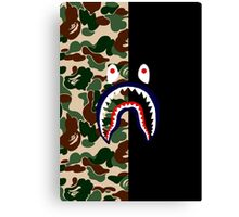 Bape Camo & Shark Canvas Print