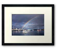 Rainbow over Paradise Framed Print