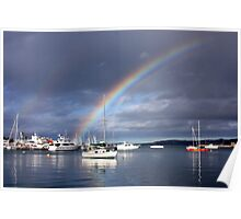 Rainbow over Paradise Poster