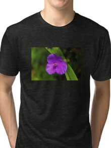 Violet, Yellow and Green Tri-blend T-Shirt