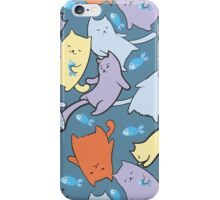 funny cartoon cats  iPhone Case/Skin