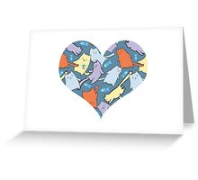 funny cartoon cats  Greeting Card