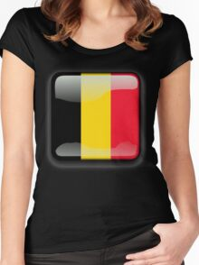 Belgium Flag Icon Women's Fitted Scoop T-Shirt