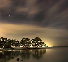 Nudgee Beach Star Trails by Andrew Brooks