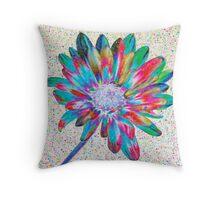 Rainbow Daisy Throw Pillow