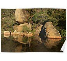 Tidal River rocks - sunrise reflection Poster