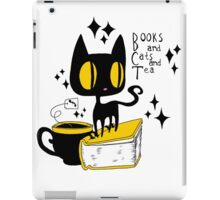 Books and Cats and Tea iPad Case/Skin