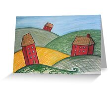 Three Little Houses Greeting Card