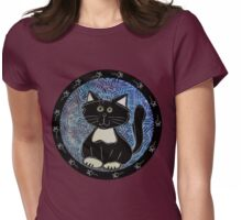Black and White Tuxedo Kitty Womens Fitted T-Shirt