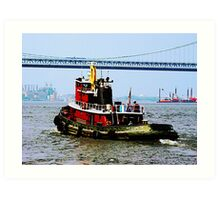 Tugboat at Penn's Landing, PA Art Print