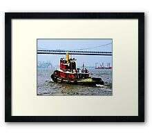 Tugboat at Penn's Landing, PA Framed Print