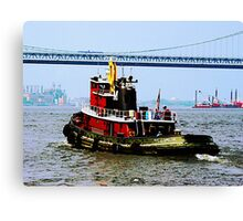 Tugboat at Penn's Landing, PA Canvas Print