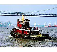 Tugboat at Penn's Landing, PA Photographic Print