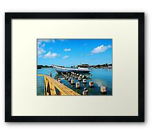 Boat Docked at Antigua Framed Print