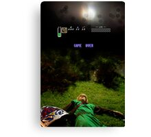 Link - Game Over Canvas Print