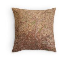 1945 vintage london map Throw Pillow