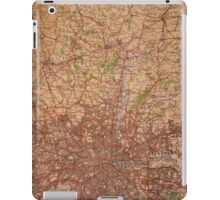 1945 vintage london map iPad Case/Skin