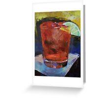Hurricane Cocktail Greeting Card