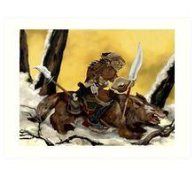 Dreadful Wolf Rider Art Print