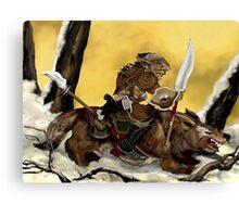 Dreadful Wolf Rider Canvas Print