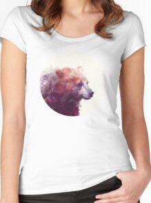 Bear // Calm Women's Fitted Scoop T-Shirt