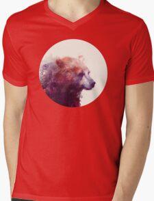 Bear // Calm Mens V-Neck T-Shirt