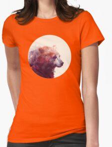 Bear // Calm Womens Fitted T-Shirt
