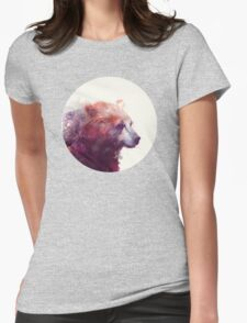 Bear // Calm Womens Fitted T-Shirt