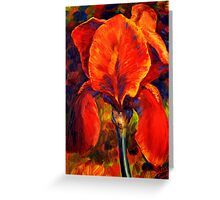 The Red Iris Greeting Card