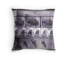 Extinction of the Americas Throw Pillow