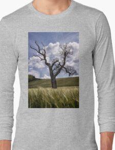 Dead Tree Dancing In A Cornfield Long Sleeve T-Shirt