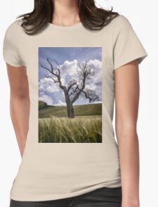 Dead Tree Dancing In A Cornfield Womens Fitted T-Shirt