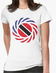 Trinidadian American Multinational Patriot Flag Series Womens Fitted T-Shirt