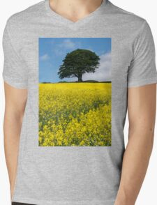 Sunshine Growing At The Roots Of A Tree Mens V-Neck T-Shirt