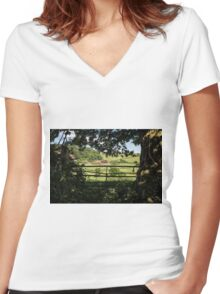 As I Walked Out One Midsummer Morning Women's Fitted V-Neck T-Shirt