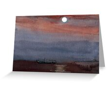 A boat in the moon Greeting Card