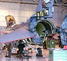 Maintenance, F16 Fighting Falcon by Mike Edwards