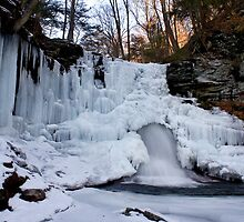 Wintery Waterfall by Mark Van Scyoc