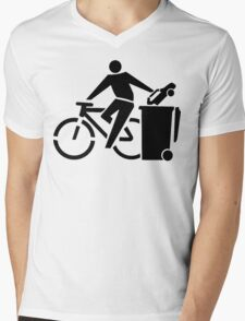 Ride A Bicycle, Recycle The Car Mens V-Neck T-Shirt