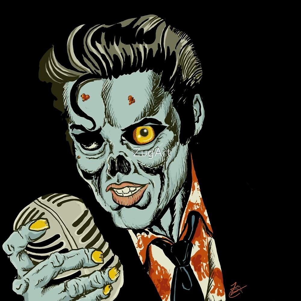 Zombie Elvis by ZugArt