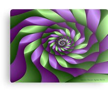 Ribbon Spiral Metal Print