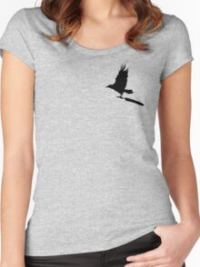 Anti-Writer's Block Raven Women's Fitted Scoop T-Shirt