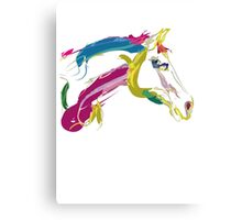 Cool t-shirt, horse Lovely in colours Canvas Print