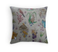 Woodland Kraft Throw Pillow
